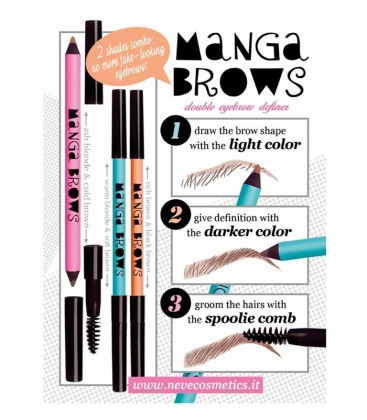 Manga Brows Rich Brown & Black Brown - Neve Cosmetics