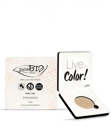 Ombretto Compatto Shimmer 01 - Champagne - PuroBio Cosmetics