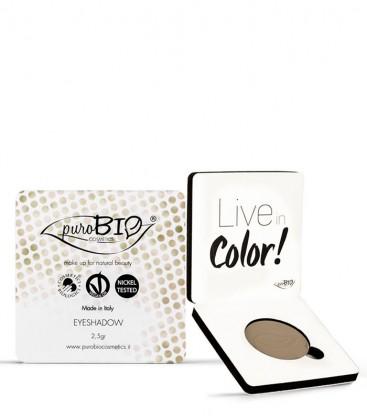 Ombretto Compatto Shimmer Mat 02 - Tortora - PuroBio Cosmetics