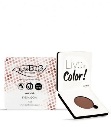 Ombretto Compatto Shimmer Mat 03 - Marrone - PuroBio Cosmetics
