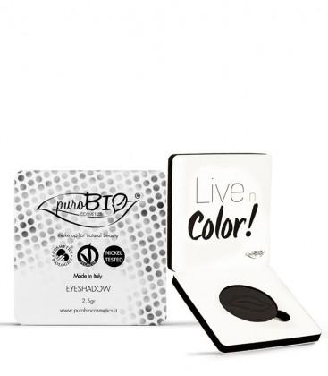 Ombretto Compatto Shimmer Mat 04 - Nero - PuroBio Cosmetics