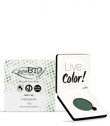 Ombretto Compatto 08 - Verde Bosco - PuroBio Cosmetics