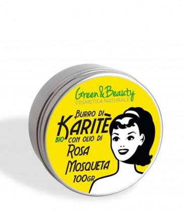 Burro di Karité Bio con Olio di Rosa Mosqueta - Green & Beauty