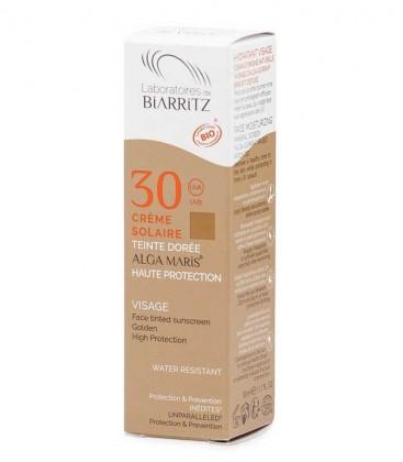 Crema Solare Viso Colorata Bio SPF 30 Dorée - Alga Maris - Laboratoires de Biarritz