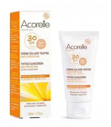 Crema Solare Viso Colorata SPF 30 - Dorée - Acorelle