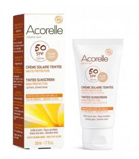 Crema Solare Viso Colorata SPF 50 - Claire - Acorelle