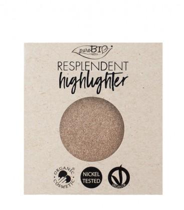 Highlighter Resplendent Refill - 01 Champagne - PuroBio Cosmetics