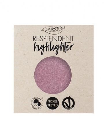 Highlighter Resplendent Refill - 02 Rosa - PuroBio Cosmetics