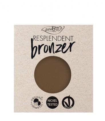 Bronzer Resplendent Refill - 02 Marrone Noce - PuroBio Cosmetics