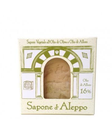 Sapone di Aleppo 16% Olio di Alloro Tea Natura