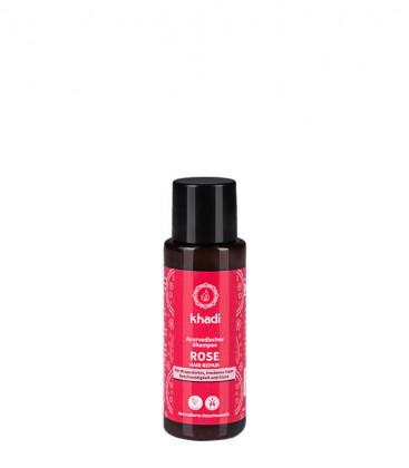 Mini Shampoo Riparatore alla Rosa - Khadi
