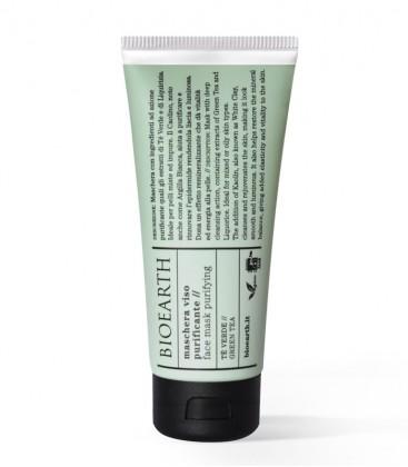 Maschera Viso Purificante - Tè Verde - Bioearth