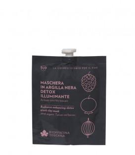Maschera in Argilla Nera Detox-Illuminante - Biofficina Toscana