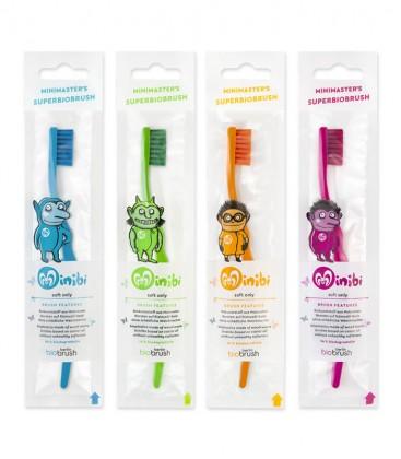 Spazzolino da Denti Biodegradabile per Bambini - Colore Arancione