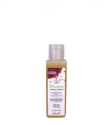Mini Shampoo Ricostituente e Idratante alla Cheratina e Semi di Lino - Parentesi Bio