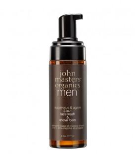 Schiuma da Barba e Detergente Viso Eucalipto e Agave - John Masters Organics