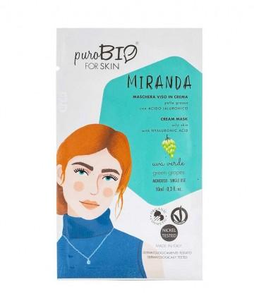 Maschera Viso in Crema Pelle Grassa - Miranda - Uva Verde - PuroBio Skin