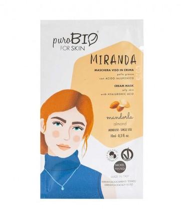 Maschera Viso in Crema Pelle Grassa - Miranda - Mandorla PuroBio Skin