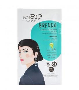 Maschera Viso in Crema Pelle secca - Brenda - Uva Verde