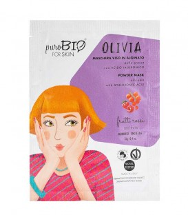 Maschera Viso Bio Peel Off Pelle Grassa - Olivia - Frutti Rossi