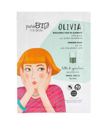 Maschera Viso Bio Peel Off Pelle Grassa - Olivia - Latte di Spirulina PuroBio For Skin