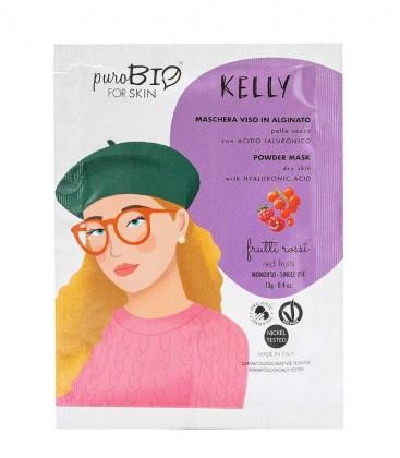 Maschera Viso Bio Peel Off Pelle Secca - Kelly - Frutti Rossi - PuroBio For Skin