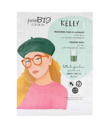 Maschera Viso Bio Peel Off Pelle Secca - Kelly - Latte di Spirulina PuroBio For Skin
