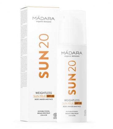 Sun20 Weightless Sun Milk SPF 20 Madara Cosmetics