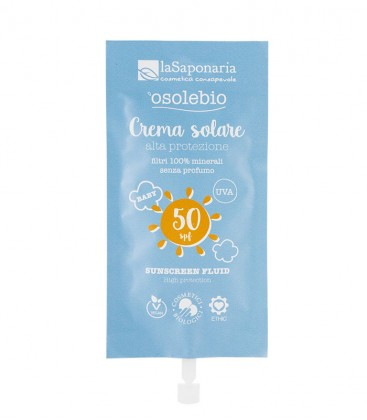 Crema Solare Alta Protezione Bimbi SPF 50 Travel Size La Saponaria