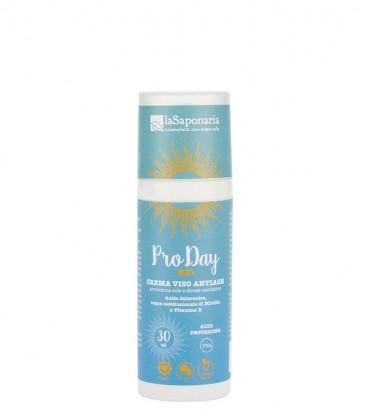 Crema Solare Viso Antiage Alta Protezione SPF 30 | La Saponaria