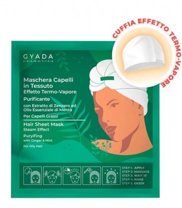 Gyada Cosmetics Maschera Capelli in Tessuto Purificante e Antiforfora