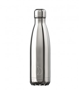 Chillys Bottle Chrome Silver 500