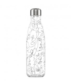 Chillys Bottle Line Art Faces 500