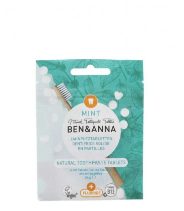 Ben & Anna Natural Toothpaste Tablets Mint with Fluoride