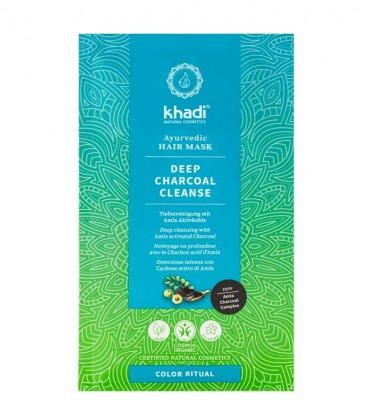 Khadi Maschera per Capelli Ayurvedica Deep Charcoal Cleanse
