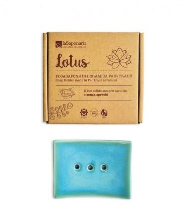 Portasapone in ceramica - Lotus